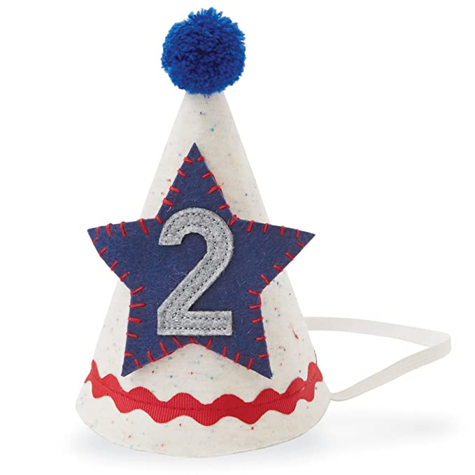 a45547949aa Amazon.com  Mud Pie Baby Boys Second Birthday Felt Party Hat
