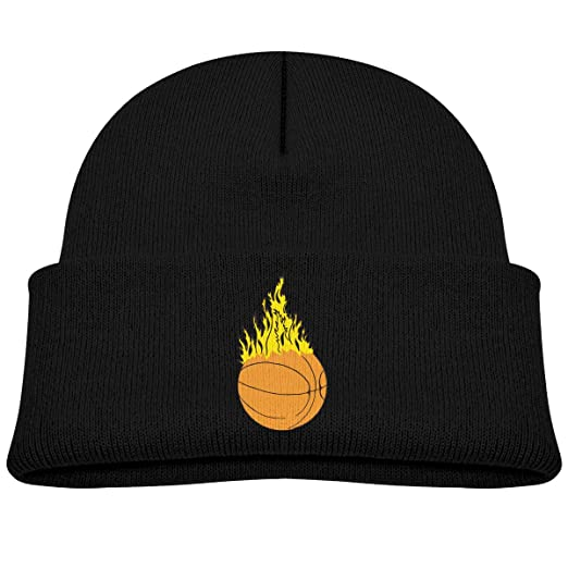 Amazon.com  SARA NELL Toddler Boys Girls Hat Fire Basketball Beanie Hats  Knit Kids Skull Cap  Clothing 38439559f59