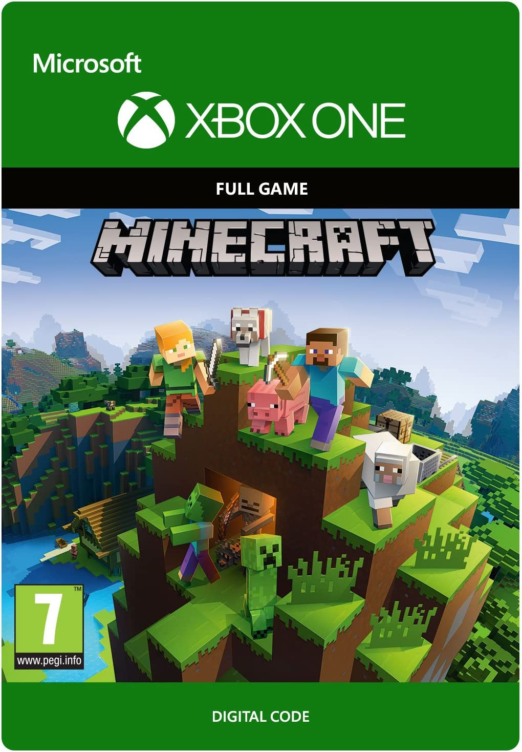 minecraft download code xbox one