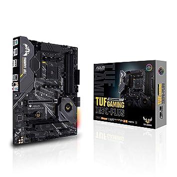 ASUS TUF Gaming X570-Plus ATX Motherboard, AMD Socket AM4, Ryzen 3000, 12+2  Dr  MOS, PCIe 4 0, M 2, DDR4, LAN, HDMI, USB 3 2, Aura Sync RGB