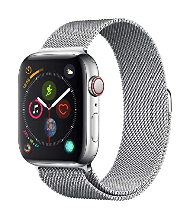 innovative design fc3fa 8019f Apple Watch Series 4 (GPS + Cellular, 44mm) - Stainless Steel Case with  Milanese Loop
