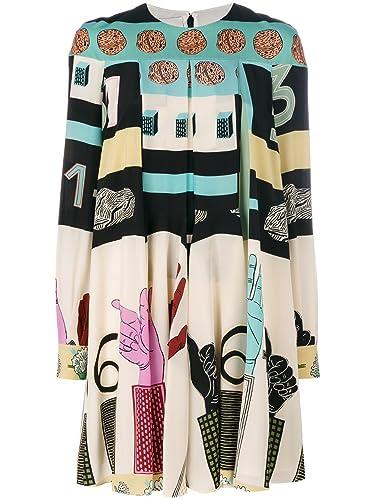 Valentino Vestito Donna Nb0vag413mu0y5 Seta Multicolor