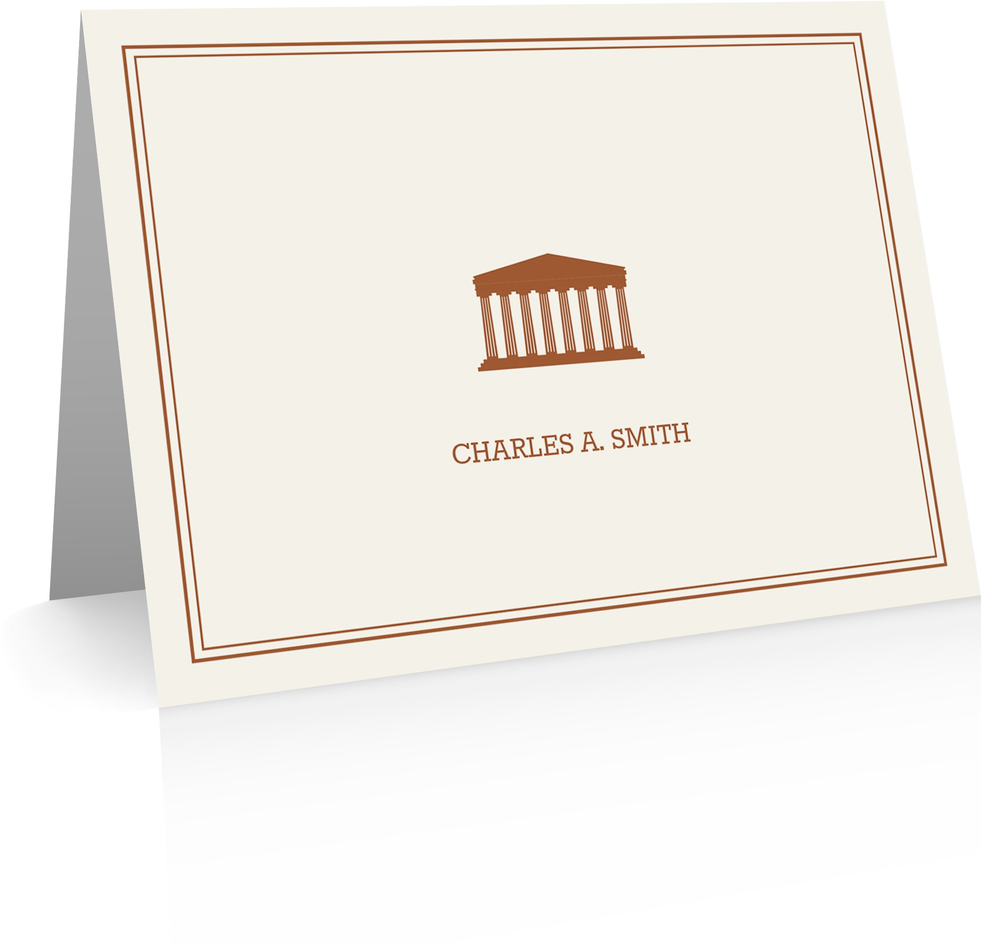 Personalized Gifts - Greek Columns Stationery (24 Foldover Cards and Envelopes)