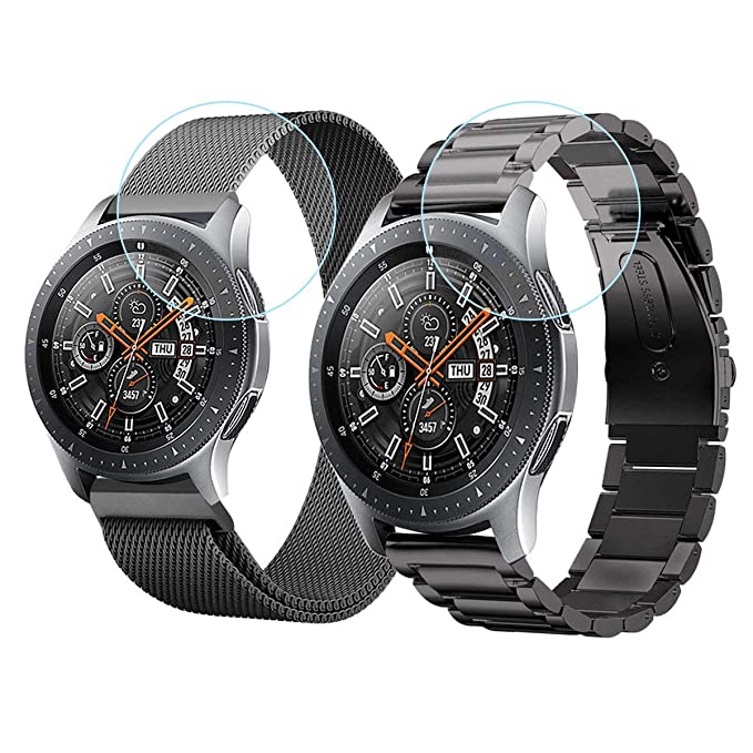 meilleur endroit pour bonne qualité acheter de nouveaux CAGOS Galaxy Watch 46mm/Gear S3 Bands - 22mm Stainless Steel Band+Mesh Loop  Bracelet Strap Replacement for Samsung Galaxy Watch 46mm/Gear S3 ...