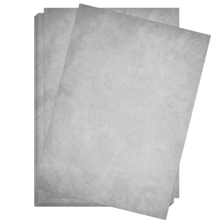 10 x Briefpapier und 10 x Briefumschl/äge Altes Papier Vintage Grau