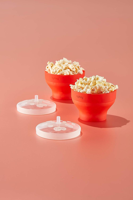 Lékué Set 2 Mini Pop Corn Single Portions In Microwave Home Kitchen