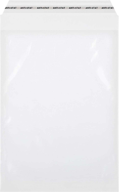 ideali per confezionare supporti di stampa o tessuti. autoadesivi 50 mm DIN A4 100 sacchetti con chiusura adesiva trasparenti sacchetti trasparenti di medie dimensioni antistatici 225 x 310 mm