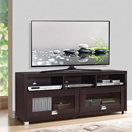 Bon Wood Home Classic TV Stand Home Entertainment Media Center Flat Screen TV  Table Wooden Storage Cabinet