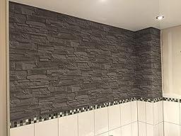 rasch factory stein optik mauer vlies tapete anthrazit 438307 baumarkt. Black Bedroom Furniture Sets. Home Design Ideas