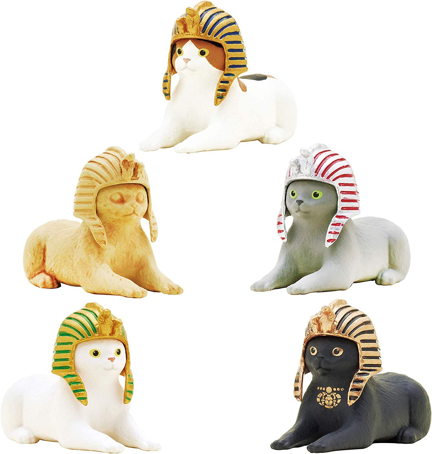 Kitan Club Cat Pharaoh Figure Blind Box Includes 1 of 5 Collectible Figurines - Fun, Versatile Decoration - Authentic Japanese Design