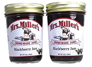 Mrs Millers Blackberry Jam (Amish Made) ~ 2 / 9 Ounce Jars