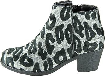 99f1b0e40ebc Dooballo Women s Leah Faux Fur Leopard Print Ankle Boots Bootie Black