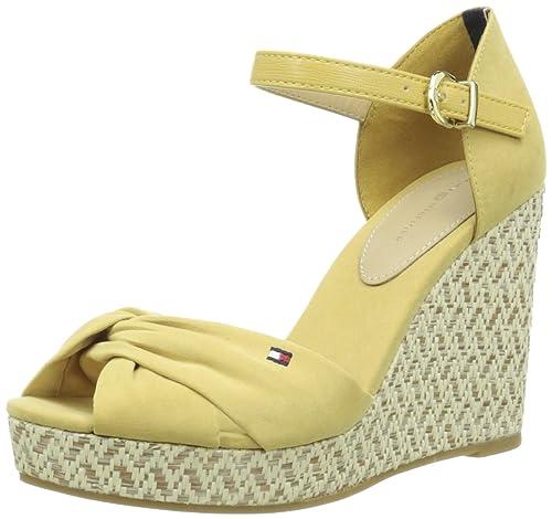 Tommy HilfigerElena 3D - Sandalias Mujer, Amarillo (Jaune (710)), 37 EU: Amazon.es: Zapatos y complementos