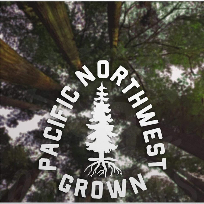 Pacific Northwest Grown auto Sticker,Vinyl Car Decal,Decor for Window,Bumper,Laptop,Walls,Computer,Tumbler,Mug,Cup,Phone,Truck,Car Accessories