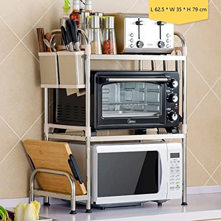 JJJJD Estante de la cocina de 3 niveles Estante de horno de ...