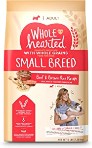 WholeHearted Adult Small-Breed Beef & Brown Rice Recipe with Whole Grains Dry Dog Food, 5 lbs.