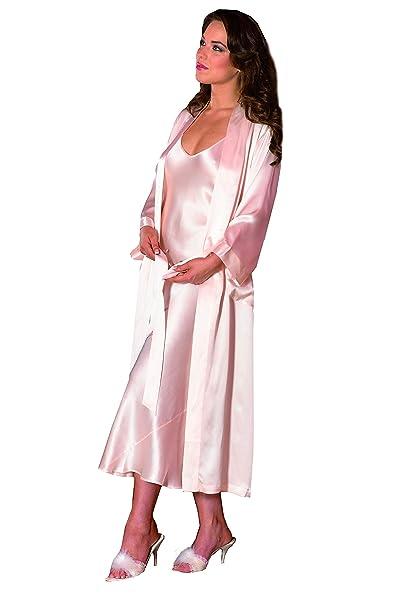 SilkCocoon mujeres bata - seda - A08-crema medio: Amazon.es: Ropa y ...