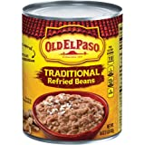 Old El Paso Traditional Refried Beans 16 oz Can (pack of 12)