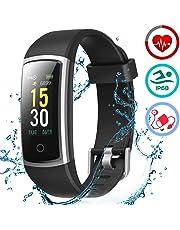 LATEC Montre Connectée Smartwatch Bracelet Connecté Moniteur de Pression Artérielle Podomètre Etanche IP68 Écran Couleur pour Femme Homme Enfant