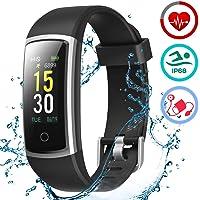 LATEC Pulsera Actividad Inteligente Pulsómetro y Presión Arterial Relojes Deportivos Impermeable IP68 Podómetro…