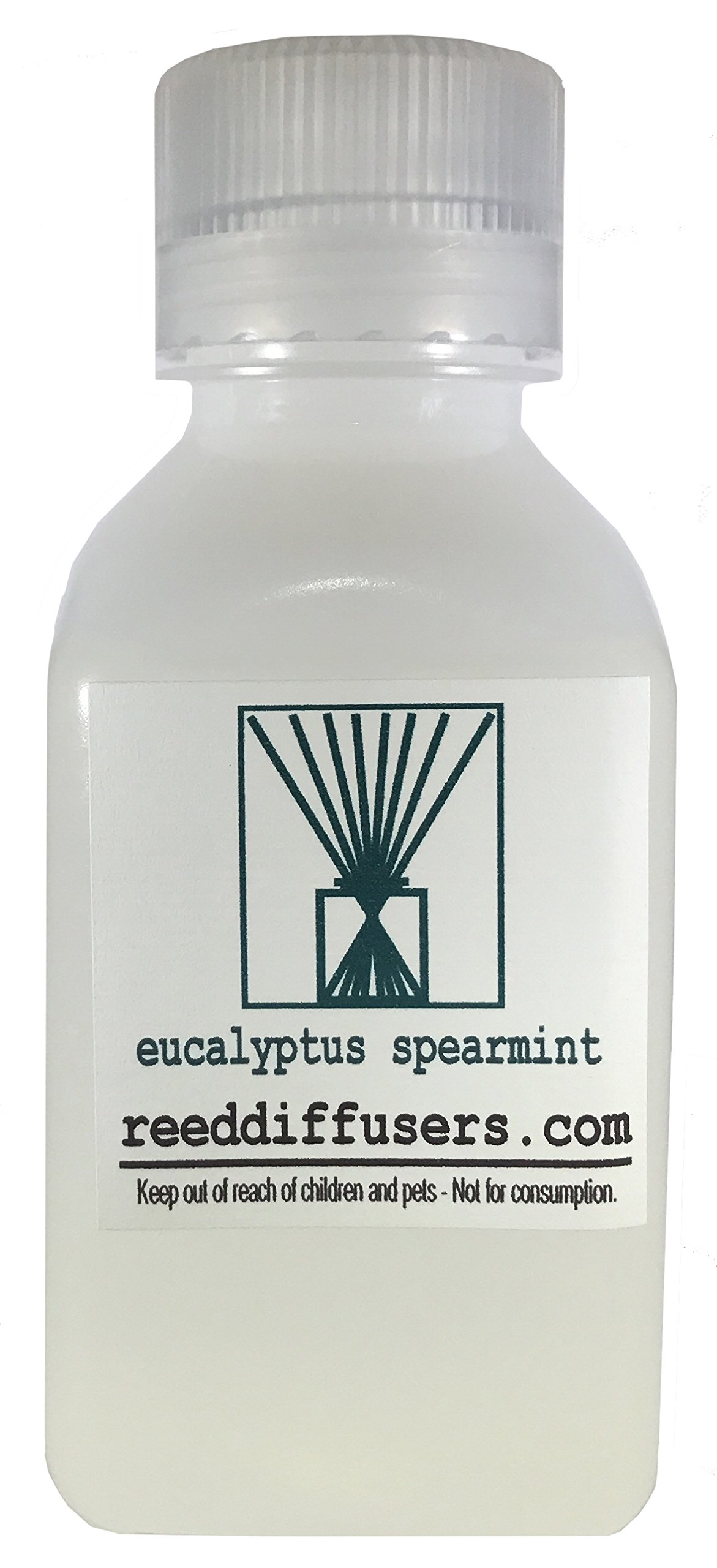 Eucalyptus Spearmint Fragrance Reed Diffuser Oil Refill - 8oz - Made in the USA by ReedDiffusers.com (Image #1)
