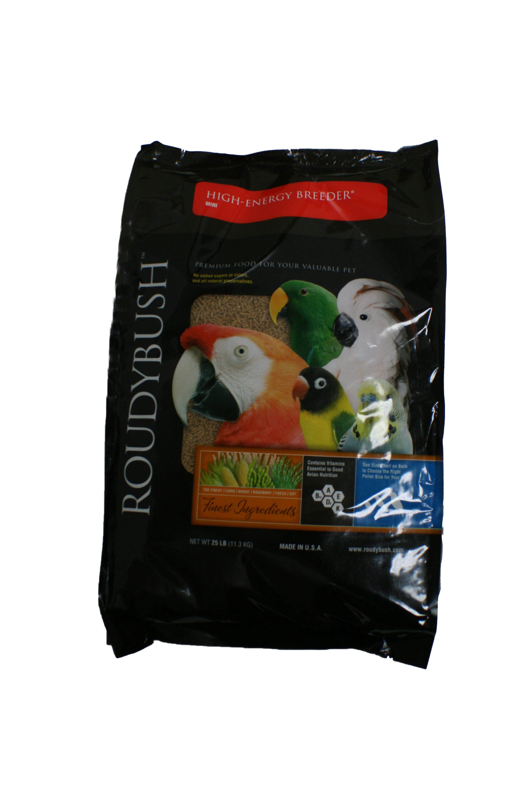Roudybush High Energy Breeder Bird Food, Mini, 25-Pound