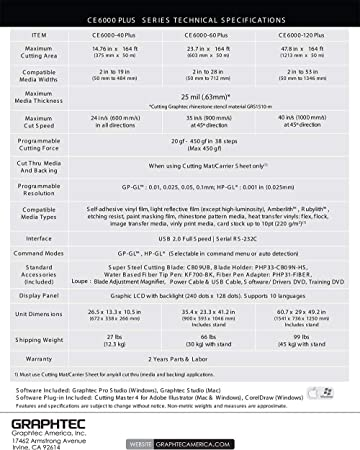 Graphtec CE6000-60 Plus - Juego de Cortador de Vinilo (61 cm, 6 ...