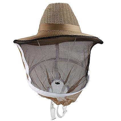 Andux Pesca de gorras de Apicultura del sombrero del visera del casquillo a prueba de viento