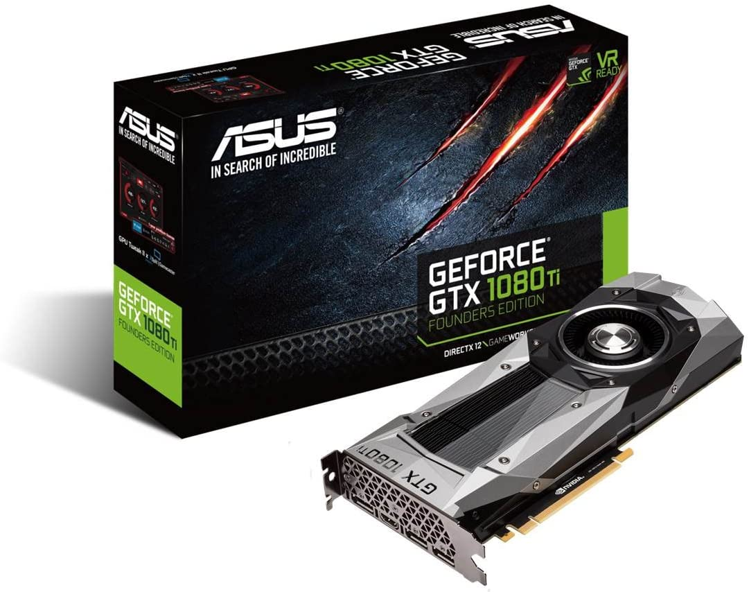 ASUS GeForce GTX 1080 TI 11GB GDDR5X Founders Edition VR Ready 5K HD Gaming HDMI DisplayPort PCIe Graphics Card Graphic Cards GTX1080TI-FE