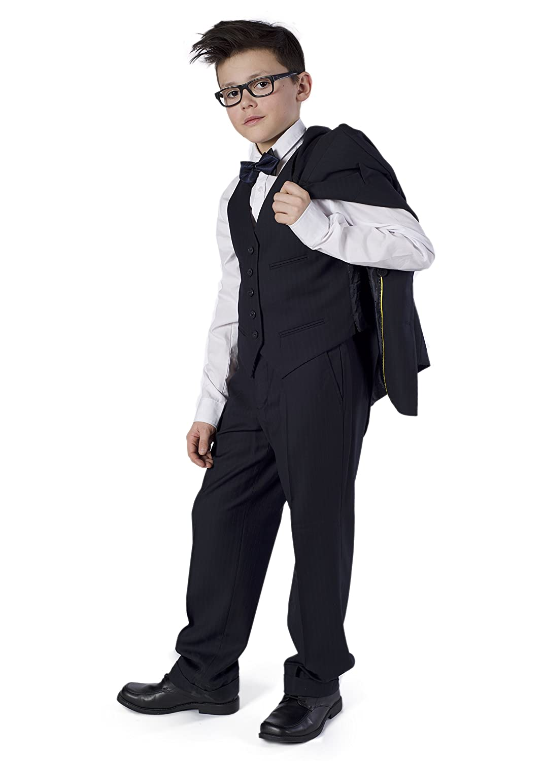 Azzurro 3 pc Kids Boys Double Breasted Striped Suit 9805