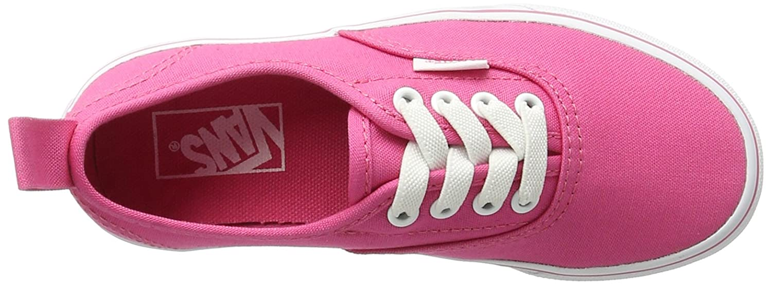 Vans  Authentic Elastic (Elastic Lace) Skate Shoe B01ICC7Y3I 4.5 Big Kid M|(80a) Hot Pink/True White