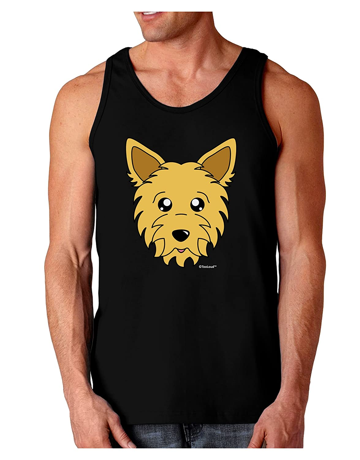 TooLoud Cute Yorkshire Terrier Yorkie Dog Dark Loose Tank Top