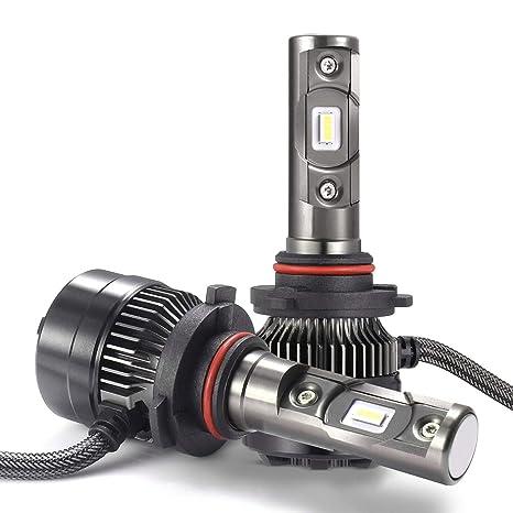 LED Bombillas para Coche Faros Delanteros - 1 par, AUTLEAD 9012 Luces Altas/Bajas