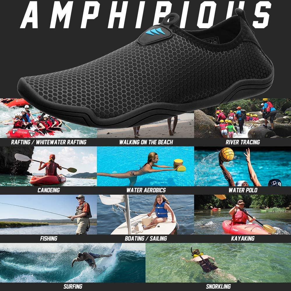 Water Shoes for Water Sports Pool Running Quick Dry Upgrade Design Wearing Barefoot for Women Men Unisex/…