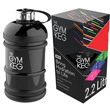 The Gym Keg - Botella de Agua de 2,2 Litros con Asa Prémium Ligera