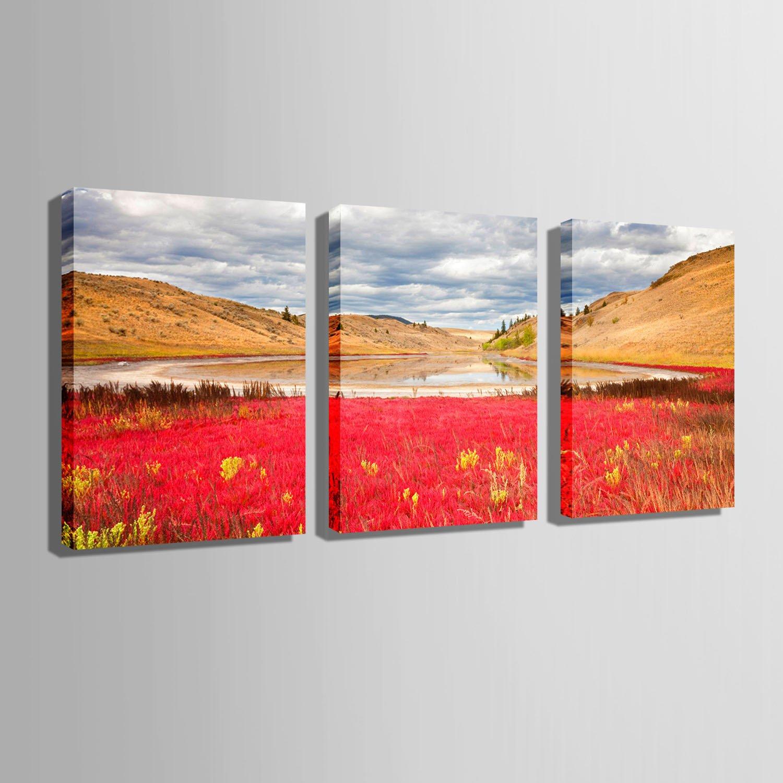 RUNDESHEBEI Y&M Hushan Landschaft Landschaft Landschaft rahmenlose dekorative Malerei, rahmenlose Gemälde, Wohnzimmer Malerei Malerei, 35  50cm3pc B071ZZ614H Zeichenpapier Jugend 35e279