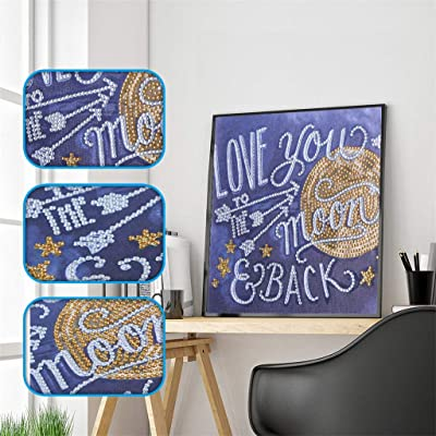 NIHAI DIY 5D Diamond Painting Kit, Cartoons Color Pattern Special Shaped Diamond Painting Embroidery Cross Stitch DIY Diamond Paintings for Home Wall Decor Contain Tools (D): Arts, Crafts & Sewing