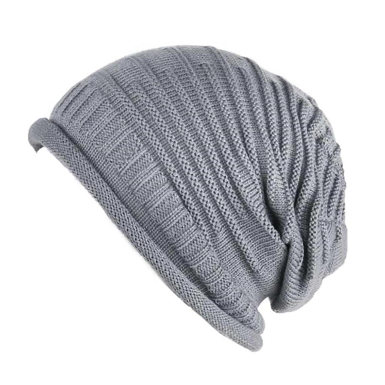 SOTW Unisex Damen Herren Strickmütze Häkel-Beanie-Mütze aus Strick, Warm, für Winter Ski Cap