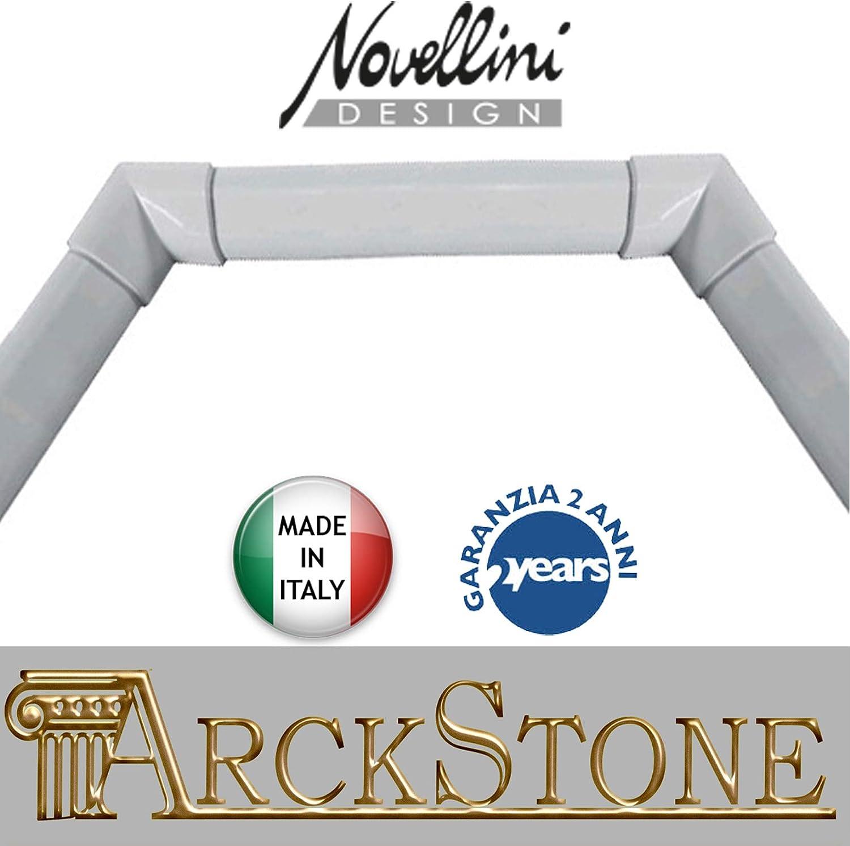 Novellini Perfil de acabado rígido de aluminio blanco para bañeras ...