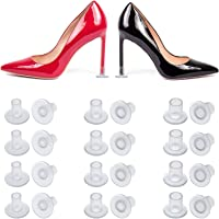 24 Pairs High Heel Protectors Clear Heel Stoppers for Wedding or Outdoor Events