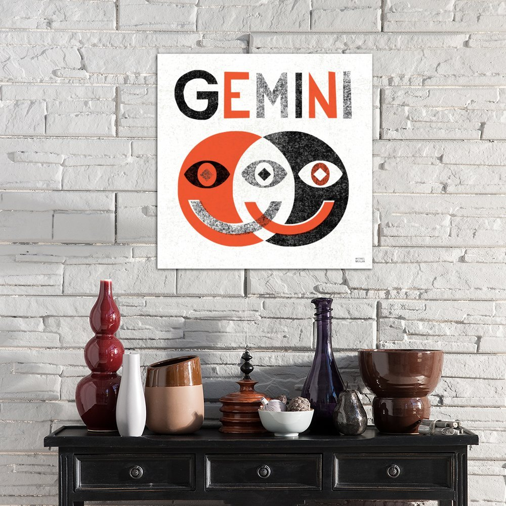 iCanvasART Zodiac Gemini Canvas Print by Michael Mullan 37 x 37