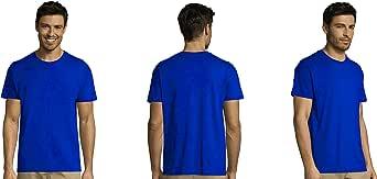 MARNAULA Pack DE 3-5-10-25 -50 o 100 Camisetas Azules 100% Algodon ...