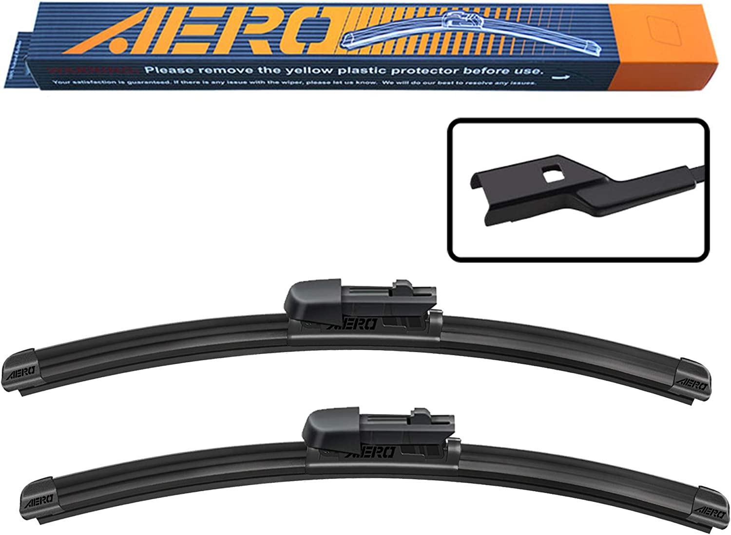 Windshield Wiper Blades All Season Natural Rubber Cleaning Window MIKKUPPA Front Original Equipment Replacement Wiper Pack of 2 Replacement for 2008-2014 Cadillac CTS 22+19