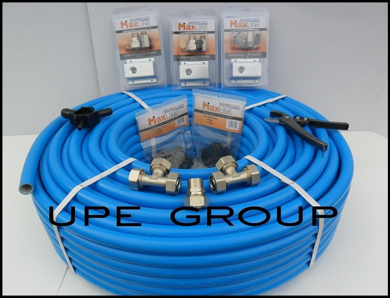 MaxLine COMPRESSED AIR TUBING piping system Master Kit 3/4'' pipe x 300 FT M7580 workshop / garage complete airline system