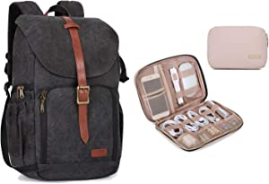BAGSMART Anti-Theft Camera Backpack and Travel Electronic Orgnaizer Case for Women