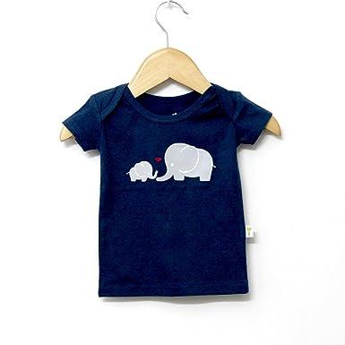 Little Green Kid Organic Cotton Indigo Half Sleeve Elephant Print