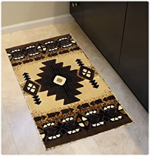 Beau South West Native American Door Mat Area Rug Design C318 Berber 24 In. X 40