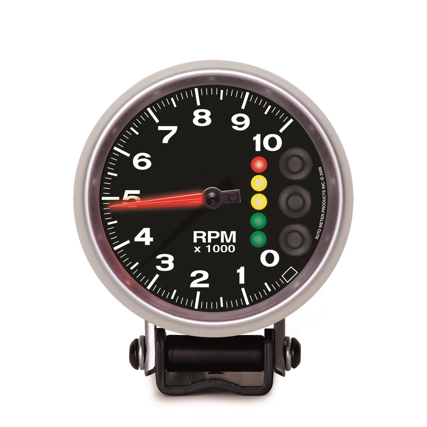 Auto Meter 6606-05705 Elite 3-3/4'' Electric Pedestal Tachometer (0-10,000 RPM, 95.3mm) by Auto Meter (Image #1)