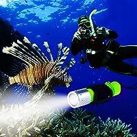 Bluefire 1100lúmenes Cree XM-L2linterna de buceo profesional, brillante LED Submarino Luz de luces de seguridad impermeable submarina linterna para deportes al aire última intervensión bajo el agua (amarillo)