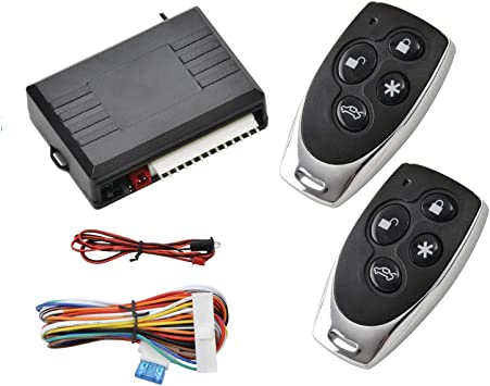 Remote Control Central Locking Kit MASO Car Door Lock with Contorl Box 2 Replacement Remote Contorl